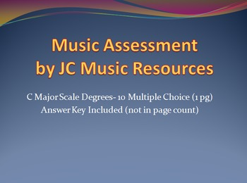 C Major Scale Degrees