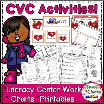 C-V-C Short Vowel Word Building Center Activities