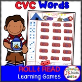C-V-C Word Literacy Game - Camp Roll & Read!
