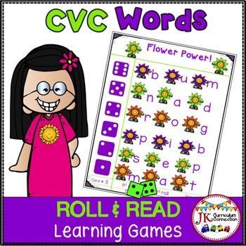 C-V-C Word Building Game – Springtime Roll & Read!