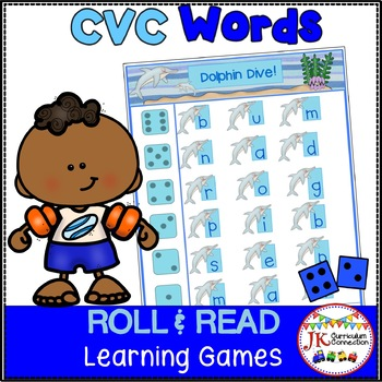 Ocean C-V-C Word Literacy Game-Under the Sea Roll & Read!