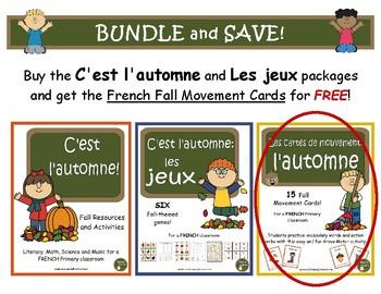 C'est l'automne et Les jeux d'automne - BUNDLE (French: Fa