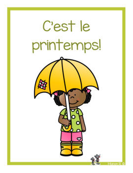 C'est le printemps!  (Spring Time in French) for emergent reader
