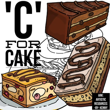 C for Cakes, chocolate cakes
