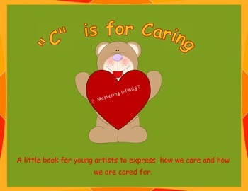 C is For Caring FREEBIE Art Book/Emergent Reader Valentine's Day