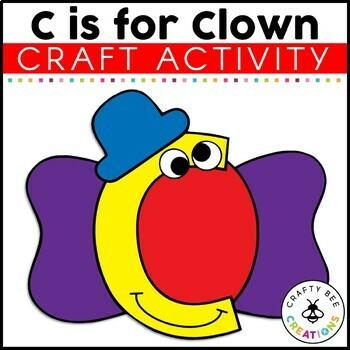 Letter C (Clown) Cut and Paste