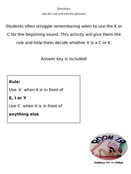 C or K sort