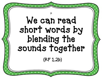 CA-CCSS Reading Standards (foundational skills)-1st Grade