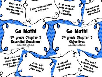 CA Go Math 5th Grade Resource Packet-Ch 3 Essential Questi