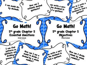 CA Go Math 5th Grade Resource Packet-Ch 5 Essential Questi