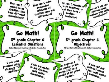 CA Go Math 5th Grade Resource Packet-Ch 6 Essential Questi