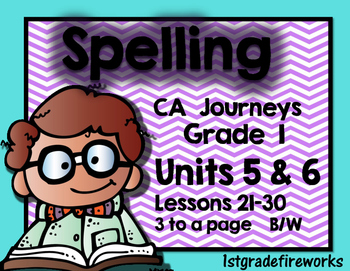 Supplement ...Spelling Units 5 & 6..Grade 1