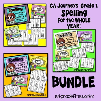 Grade 1 SPELLING  BUNDLE - Whole YEAR