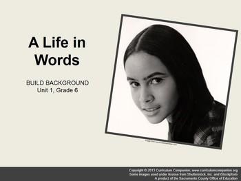 CA Treasures A Life in Words Grade 6 Unit 1 (Common Core Aligned)