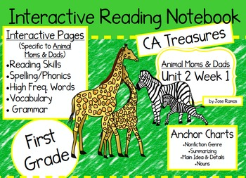 CA Treasures • Animal Moms and Dads • Interactive Notebook