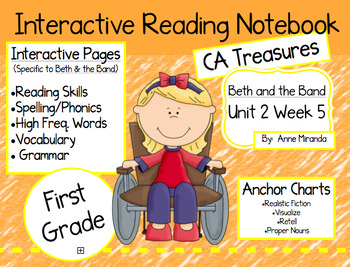 CA Treasures • Beth and the Band • Interactive Notebook •