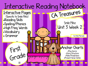 CA Treasures • Smile Mike • Interactive Notebook • Unit 3 Week 2