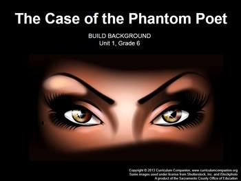 CA Treasures The Case of the Phantom Poet Grade 6 Unit 1 (