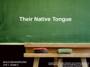 CA Treasures Their Native Tongue Grade 2 Unit 1 (Common Co