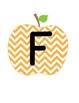 CAFE Board Header FREEBIE {Chevron Apples}