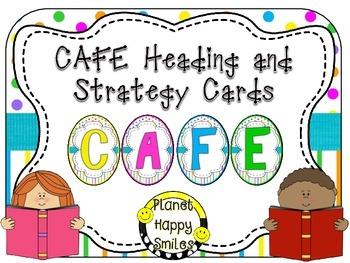 CAFE Letters, Posters, and Strategy Cards (Bright Polka Do