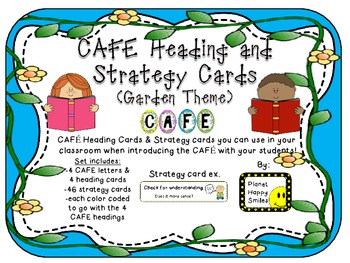 CAFE Letters, Posters, and Strategy Cards (Garden Theme)