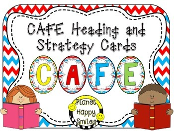 CAFE Letters, Posters, and Strategy Cards (Red, White and