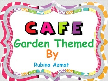 CAFE Menu Garden Themed: