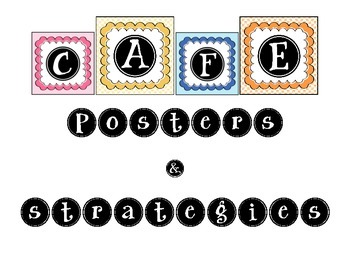 CAFE Posters & strategies