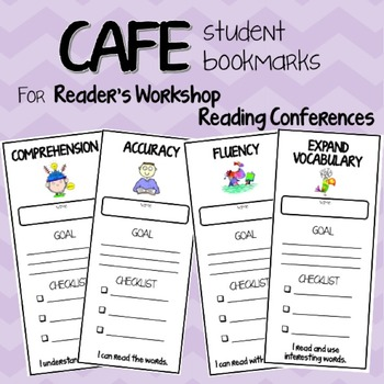 CAFE Reader's Workshop Strategy Bookmarks for Conferencing
