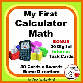First CALCULATOR MATH | Multi-step | Task Cards | FUN | Gr