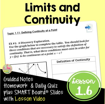 Calculus PreCalculus: Limits and Continuity