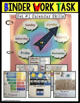 CALENDAR Binder Work Task Set for Special Education and Au
