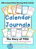 CALENDAR JOURNALS: Differentiated Daily Morning Work Activity