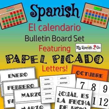 CALENDAR: Spanish Calendario Bulletin Board Featuring PAPE