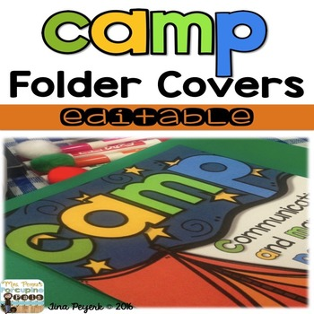 CAMP Folder Cover: Communicating and Managing Paperwork-Editable