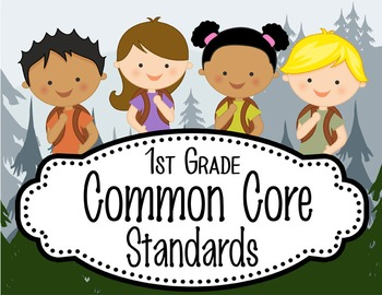 "CAMPING - 1st Grade Common Core Standards ""I CAN"" format /"