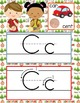 CAMPING - Alphabet Cards, Handwriting, ABC Flash Cards, AB
