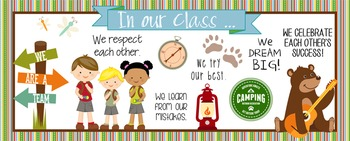 CAMPING - Classroom Decor: LARGE BANNER, In Our Camp - HORIZONTAL