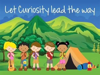 CAMPING - Classroom Decor: MEDIUM POSTER, Let Curiosity Le