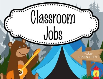 CAMPING - Classroom Helpers JOBS clip chart