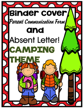 CAMPING Home Learning Binder
