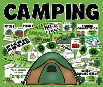CAMPING ROLE PLAY TEACHING RESOURCES KEY STAGE 1-2 SCIENCE SUMMER