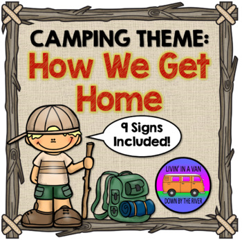 CAMPING THEME: How We Get Home Signs