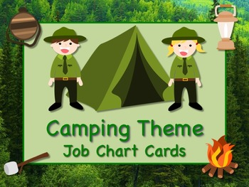 CAMPING Theme Job Chart Cards/Signs Great for Classroom Ma