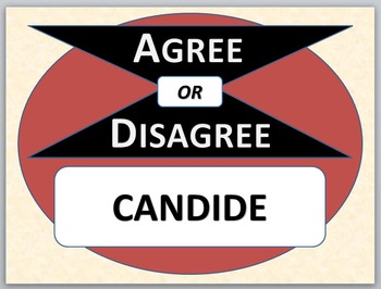 CANDIDE - Agree or Disagree Pre-reading Activity