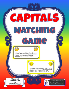 CAPITALS MATCHING GAME