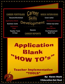 "CAREERS & JOB SKILLS - Sect 4 (Part 2) - ""Application Blank"""