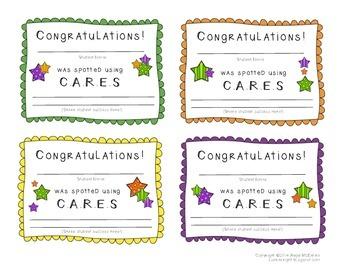 CARES Cards FREEBIE