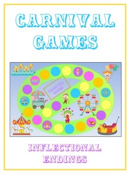 CARNIVAL Inflectional Word Endings - ELA First Grade Game